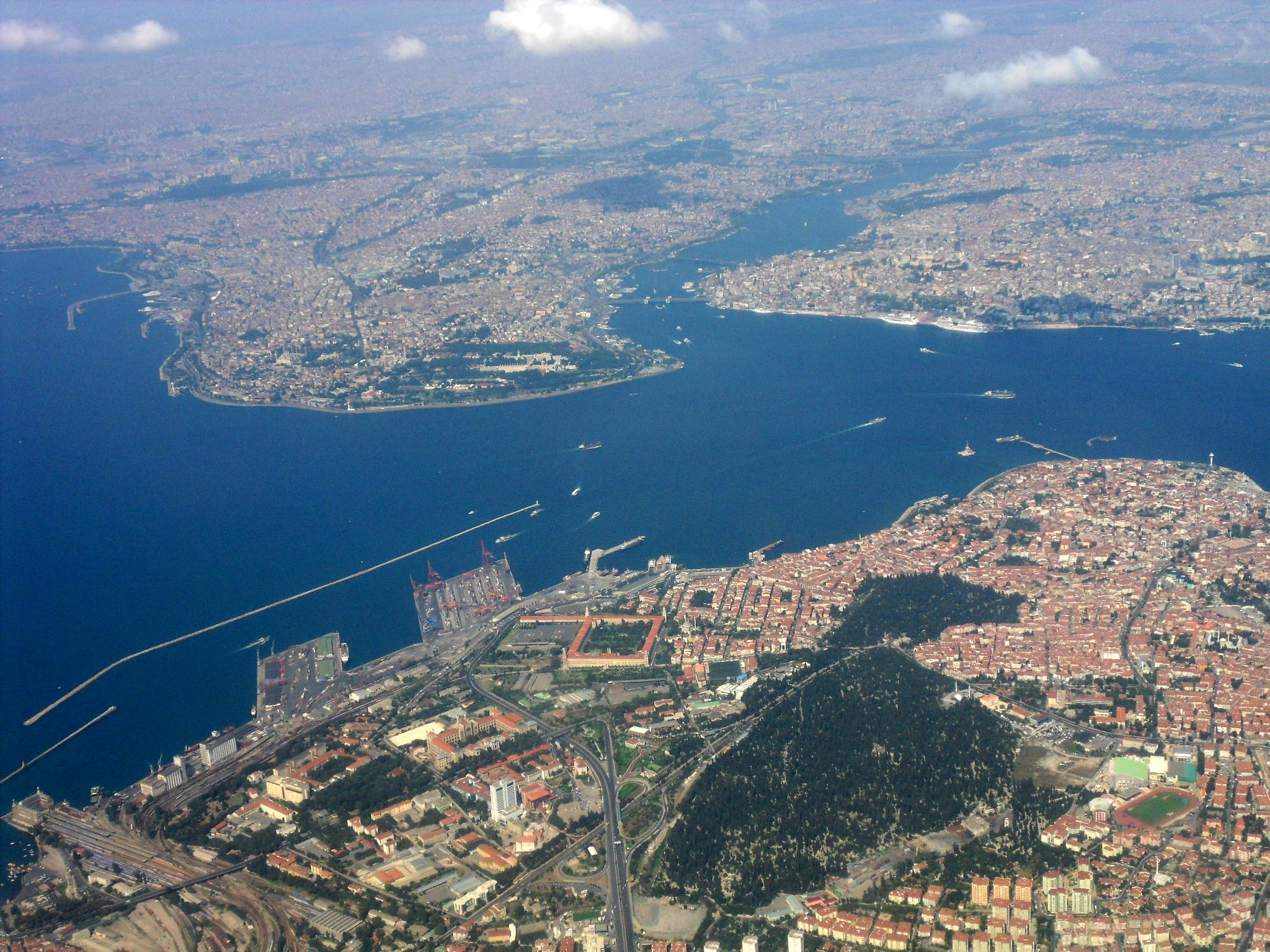 Heart Of Istanbul From Air