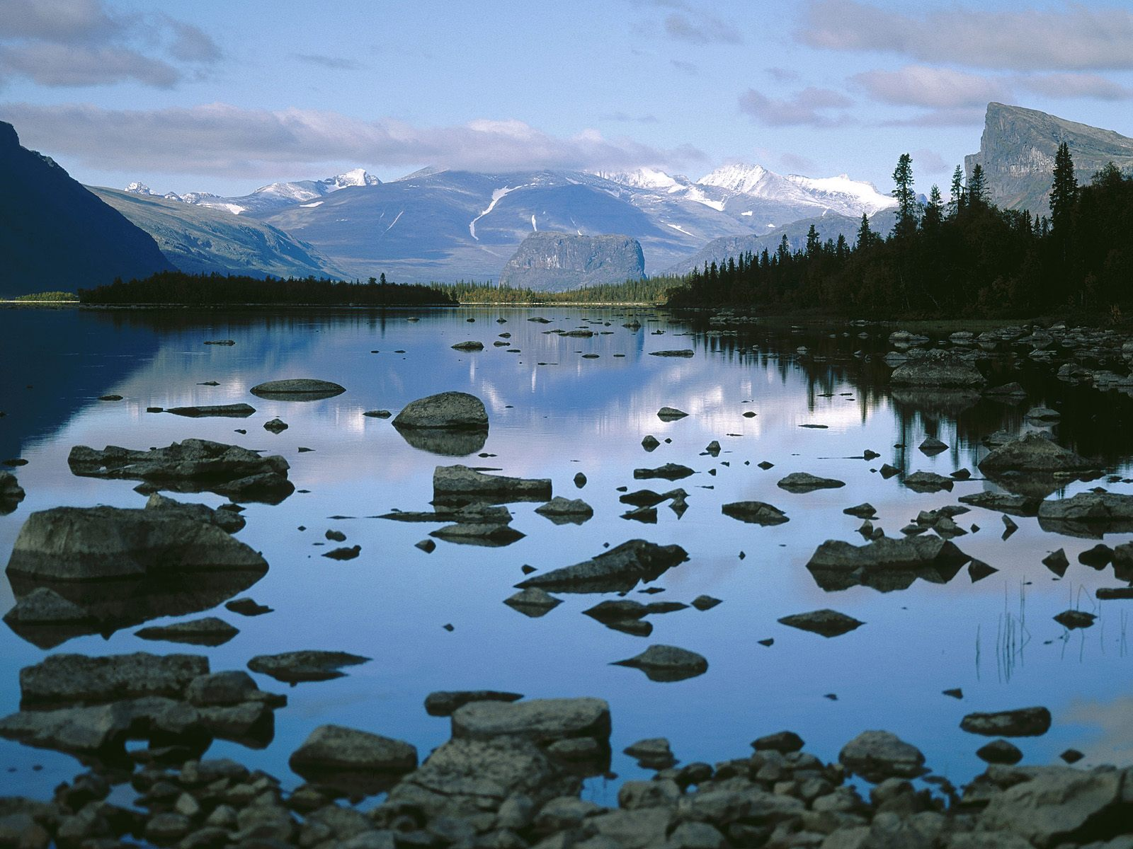 Laitaure Lake Sarek National Park
