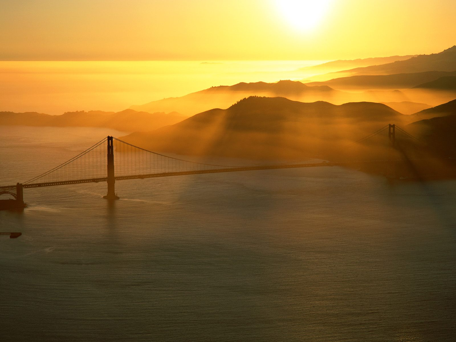 Golden Gate Sunset 1600 x 1200