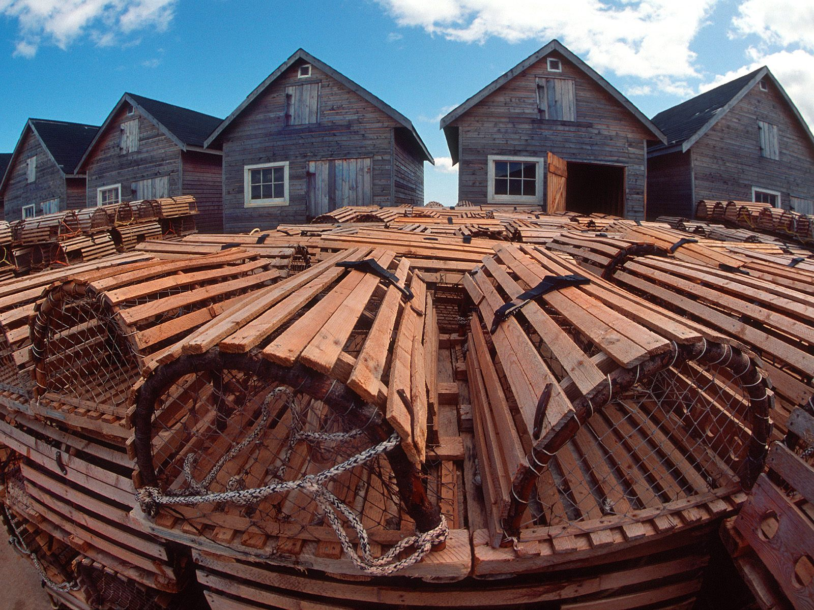 Fishing Huts and Lobster Traps Prince Edward Island