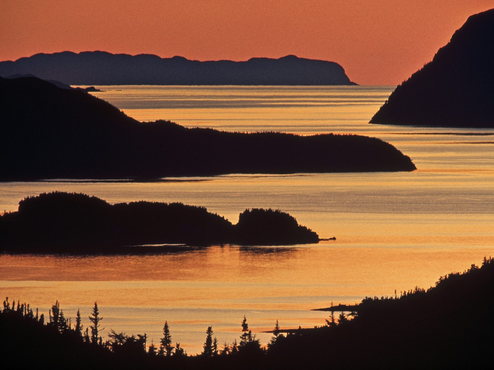 Hermitage Bay at Sunset Newfoundland