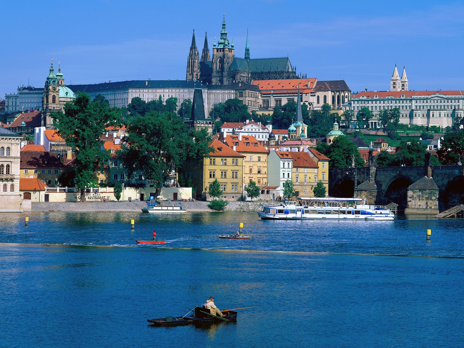 Sightseeing by a River Prague