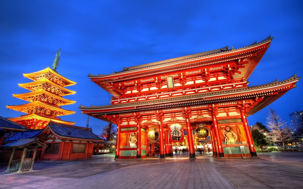Tokyo temple 1152x720