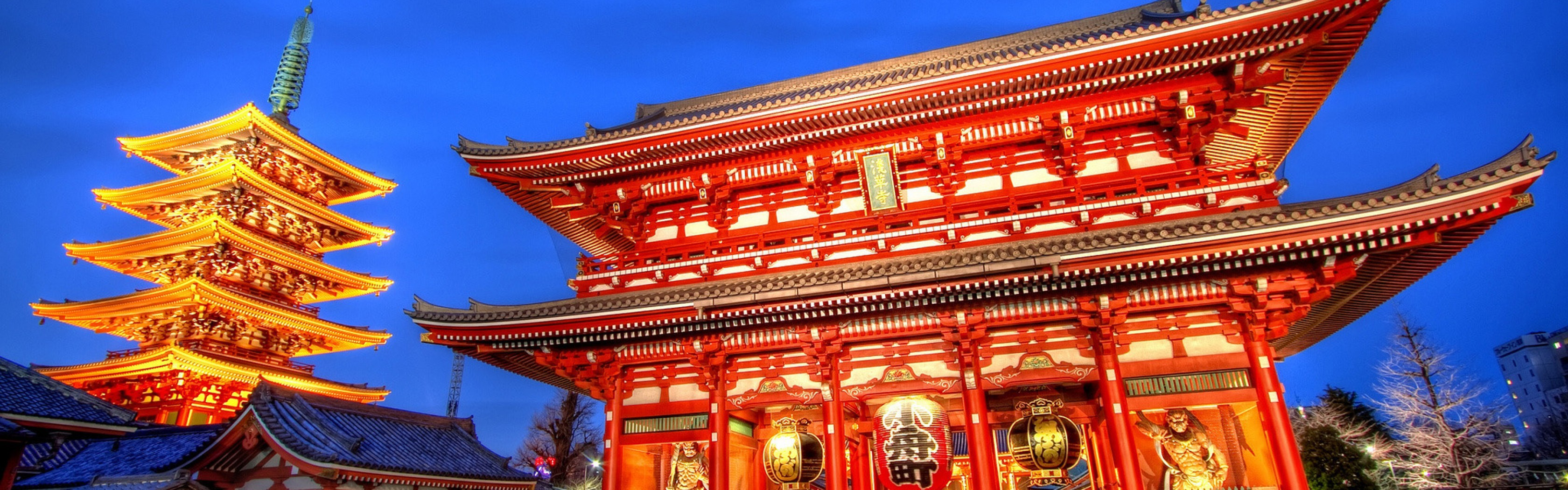 Tokyo temple 3360x1050
