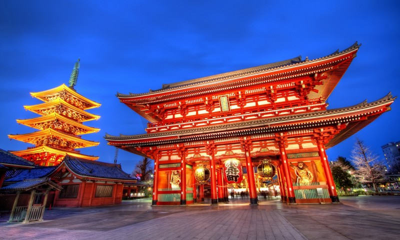 Tokyo temple 800x480