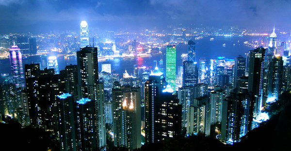 Hong Kong at Night 600 x 312