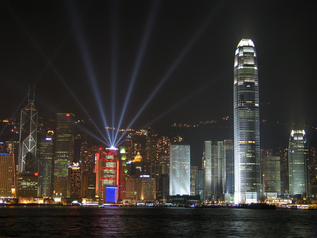 Hong Kong night lights 1024 x 768