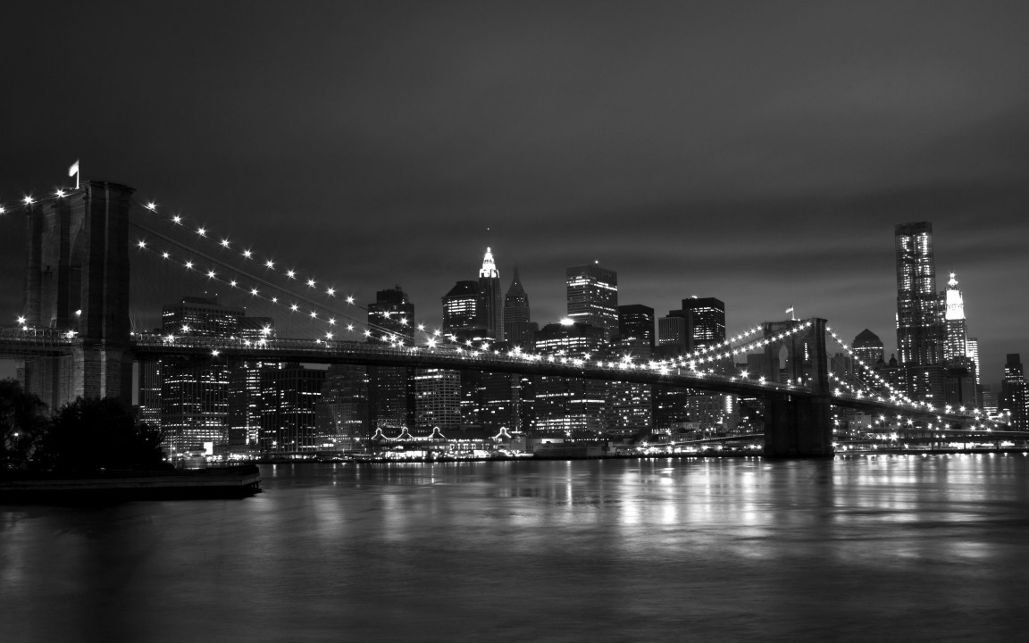 New York Black White 1152x720