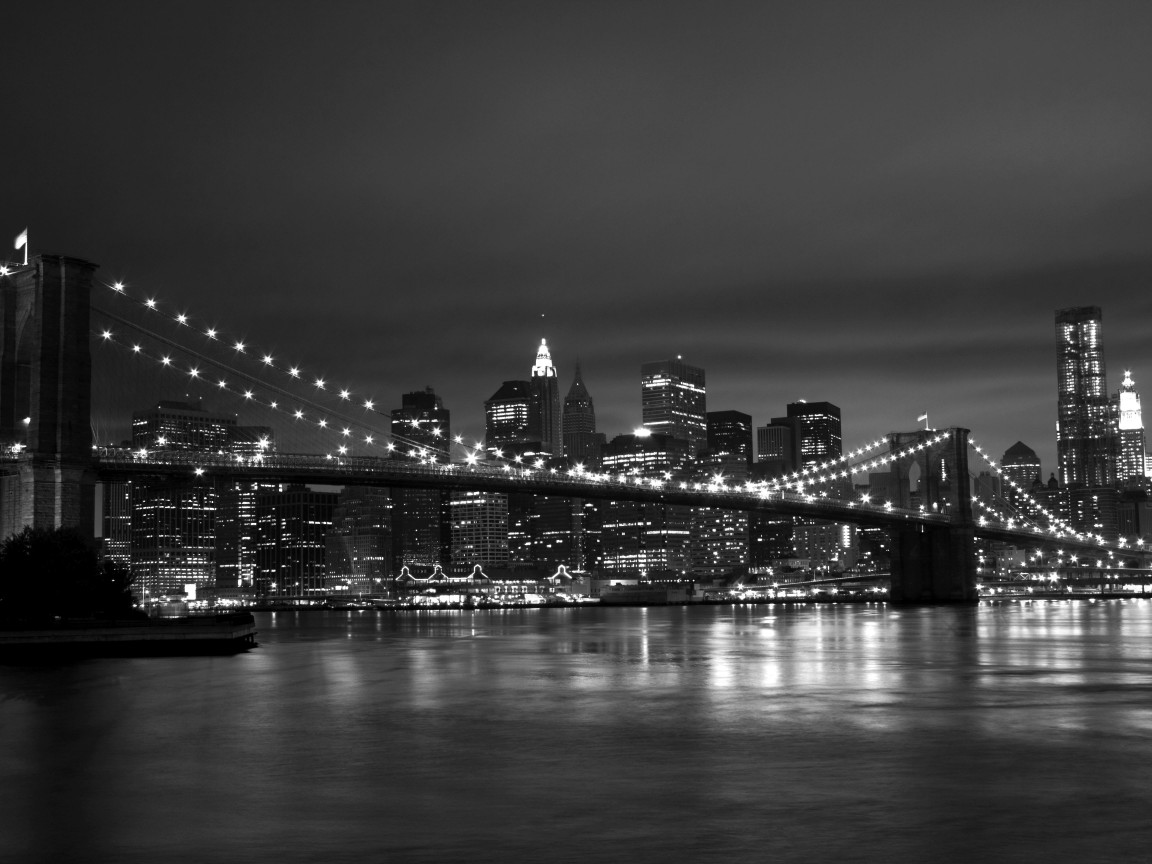New York Black White 1152x864