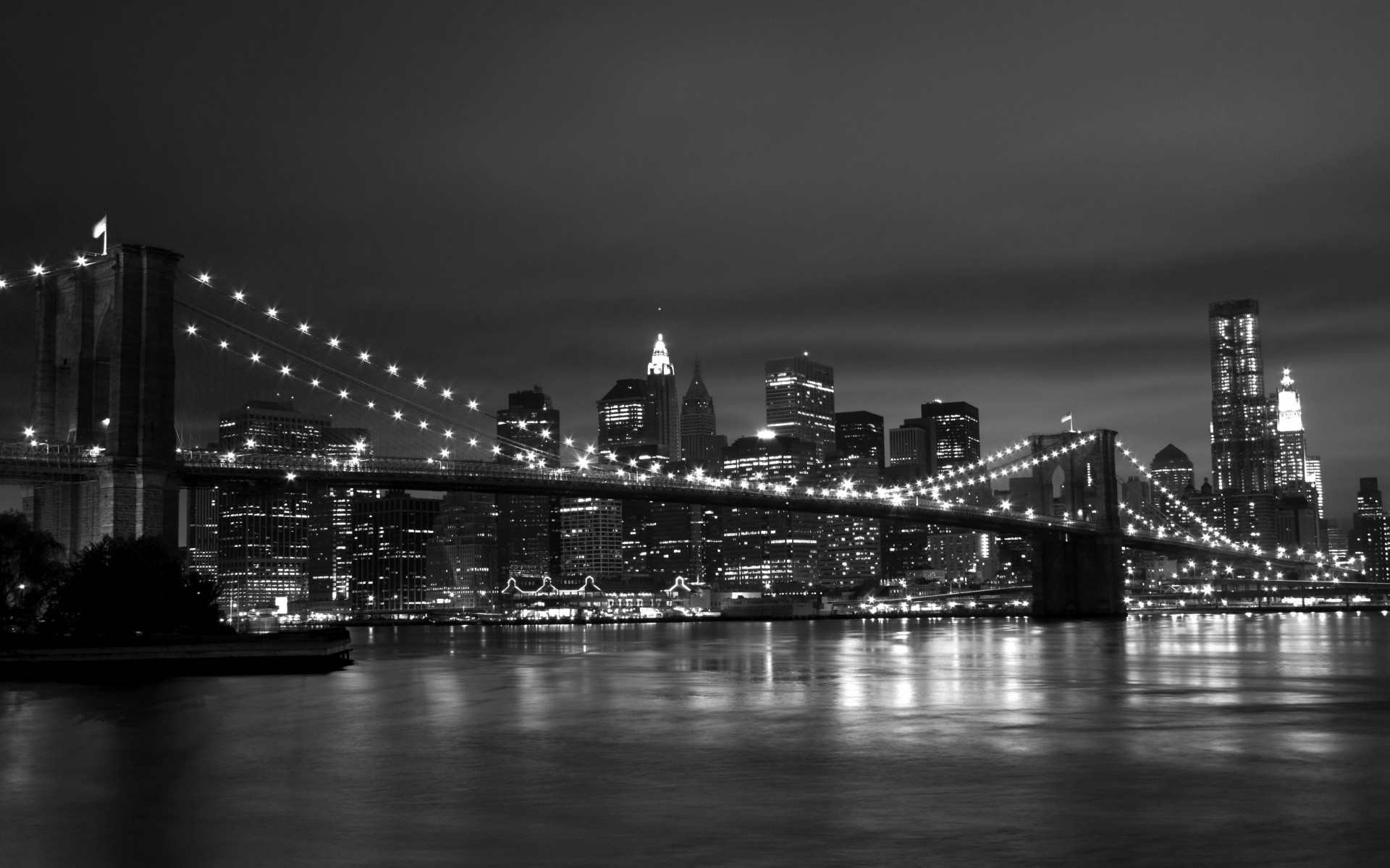 New York Black White 1920x1200