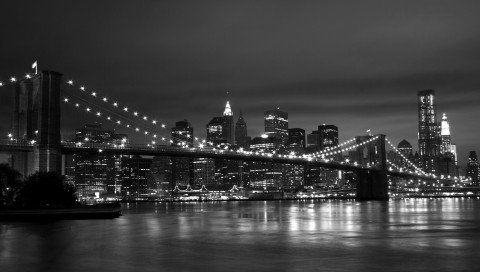 New York Black White 480x272