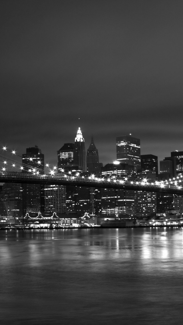New York Black White 640x1136