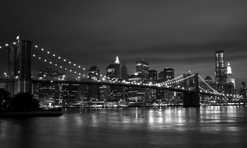 New York Black White 800x480