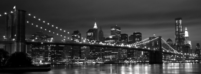 New York Black White 851x315