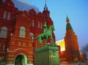 Marshall Zhukov Equestrian Statue and State Historical Museum 1600 x 1200