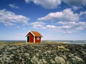Small Hut at the Coastline of the Baltic Sea Tjust Archipelago