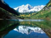Snow Capped Maroon Bells White River National Forest Colorado 1600 x 1200