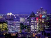 City Lights of Montreal Quebec