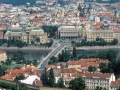 Manesu Bridge Over the Vltava River Prague