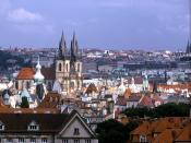 Panorama of the Church of Our Lady before Tyn Prague