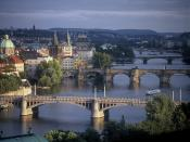 Prague Bridges Spanning the River Vltava