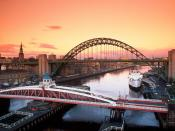 Tyne Bridge and Swing Bridge Newcastle Upon Tyne