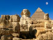 Great Sphinx Chephren Pyramid Giza