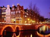 City Lights Amsterdam The Netherlands 1024 x 768