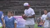 demarco murray holds football camp at fort sam houston